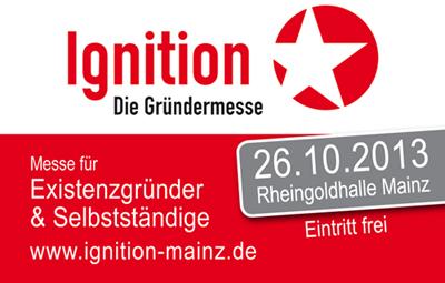 A & O Beratung bietet Beratung für Existenzgründer auf der Ignition 2013 in Mainz.